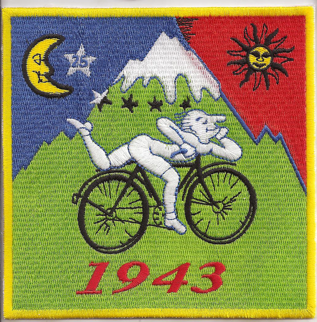 Drug-Fun-ALBERT-HOFMANN-BIKE-RIDE-1943-Patch-Aufnaeher-Iron-On-LSD-GOA-ACID-ART
