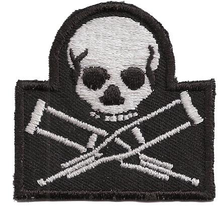 Jackass-Skull-Patch-Logo-Stunt-Sammeln