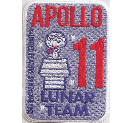 Apollo-11-Lunar-NASA-Snoopy-Syndicate-Spacestation-Uniform-Aufnaeher-Patch-Badge
