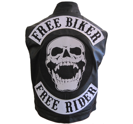free biker echt lederjacke chopper lederweste freerider. Black Bedroom Furniture Sets. Home Design Ideas
