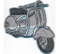 VESPA Italien Fahne Crossed Bones Deathhead Totenkopf Biker Motorrad Aufn/äher Patch